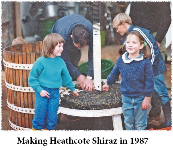 Making Heathcote Shiraz 1987